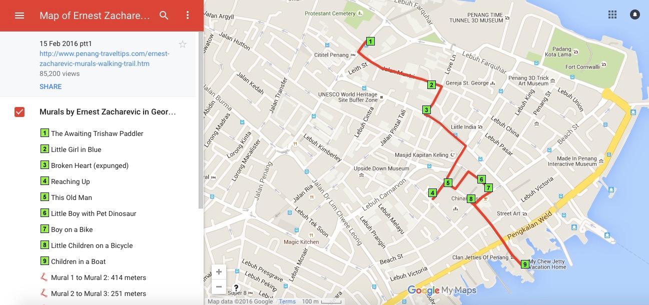 MapStreetArtPenang